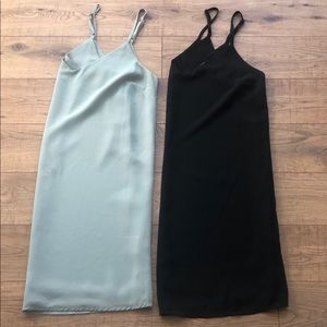 TWO Cotton On XS Tank Top Shift Dresses